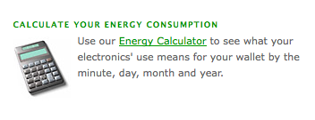 calculate your electronic energy usage