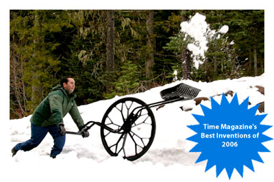 Clears away snow 3x FASTER than a snow shovel and is an economical, eco-friendly alternative to snow plows.