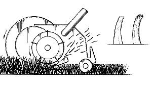 scissor-like cut of a reel mower is healthier for the lawn