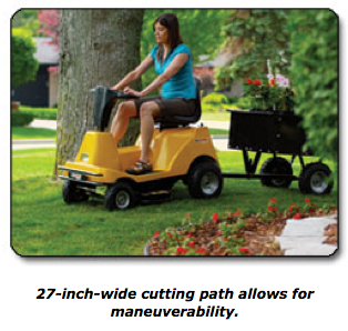 Small Electric Riding Mower Gets Great Customer Reviews