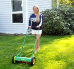Pushing a reel mower is now easy